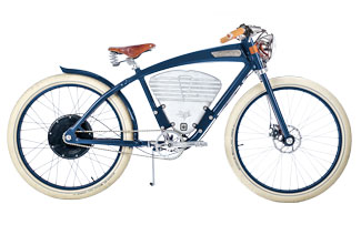 Vintage Electric Bike in Blue