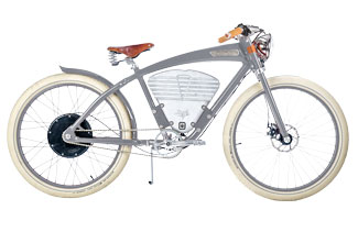 Vintage Electric Bike in Grey