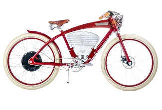 Vintage Electric Bike in Red