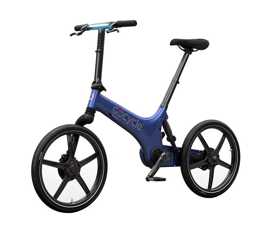 Limited Edition Gocycle Electric Bike in Electric Blue