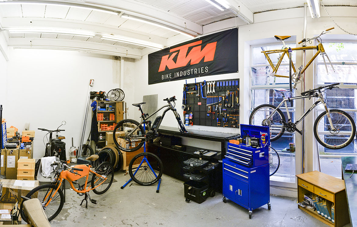 Our eBike Service Centre in London, UK.