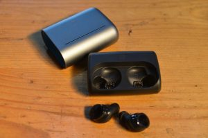bragi ear pods and case for ebike safety