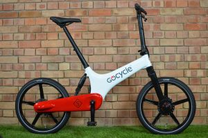 gocycle gs in white and red